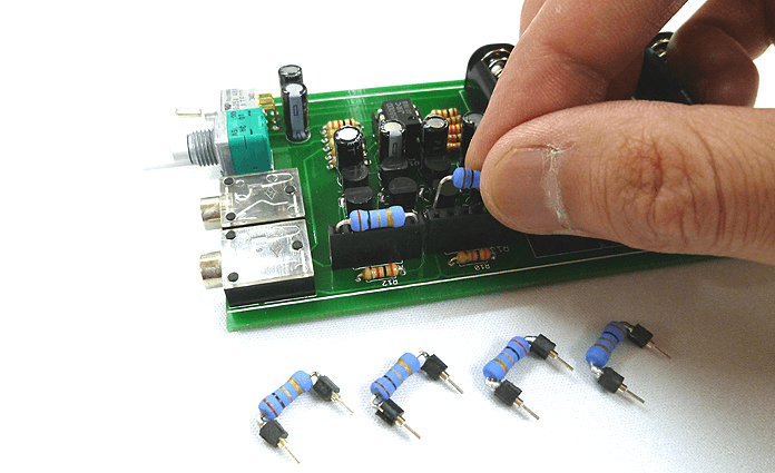 D12-H-AMP(キット)_抵抗