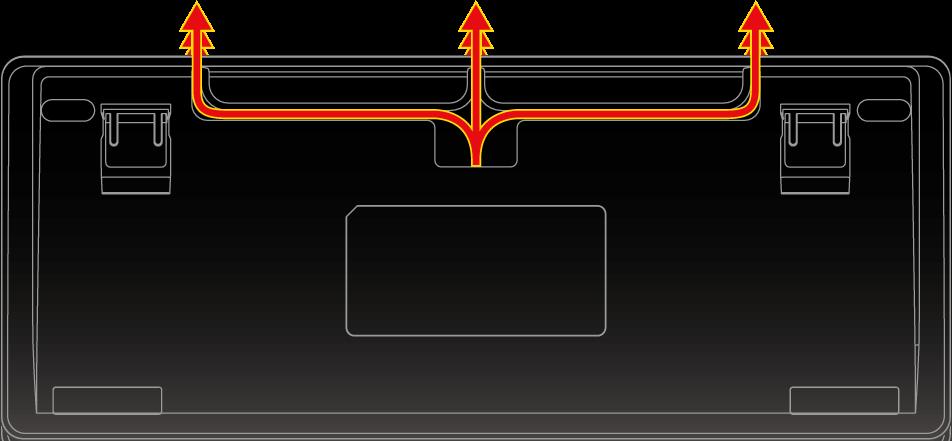 BFKB92UP2ケーブルは3方向に取り回しができます。