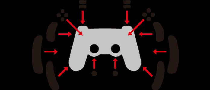 コントローラーグリップ使用例